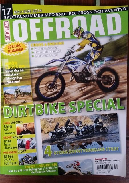 Offroad Motorrad med Lars